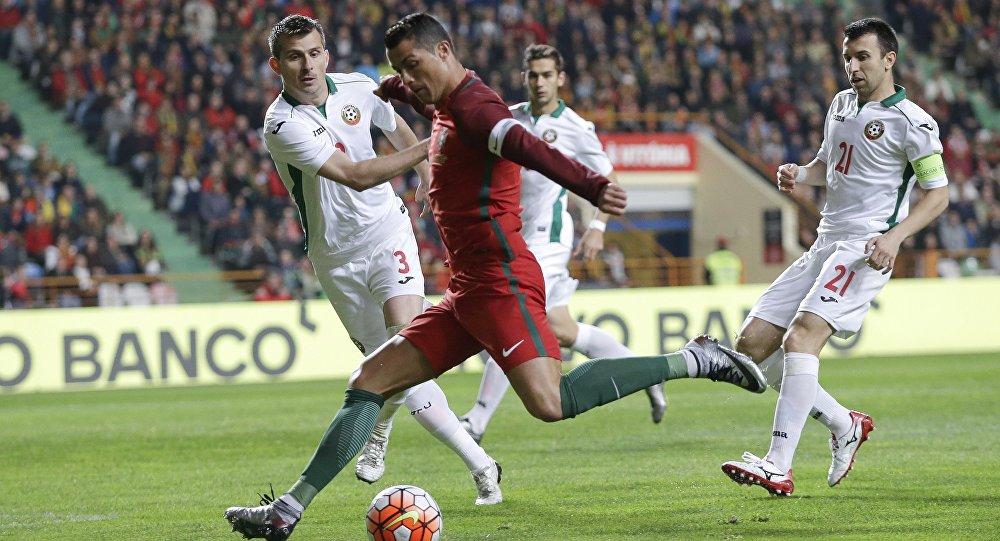 Cristiano Ronaldo pendant un match amical contre la Bulgarie