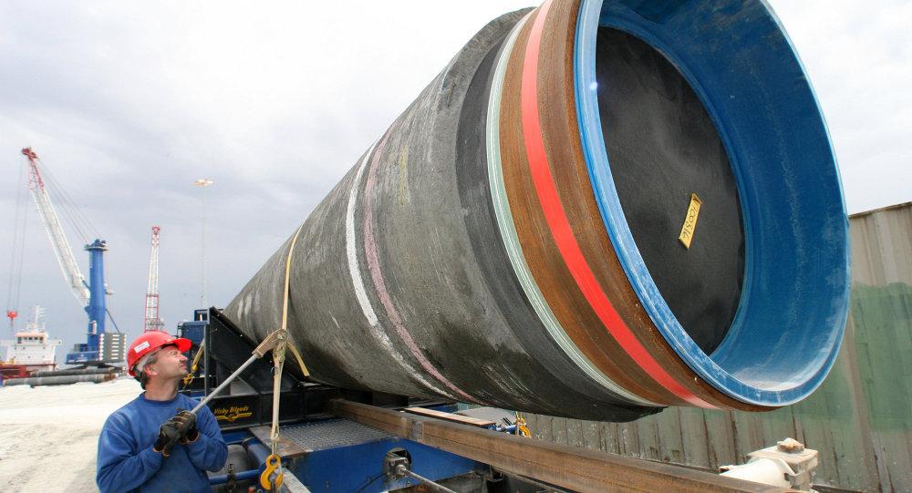 La construction du gazoduc Nord Stream