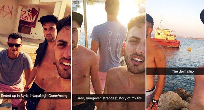 Les jeunes hommes ont documenté leur aventure avec des selfies