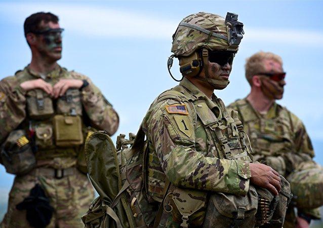 Militares américains aux exercices de l'Otan