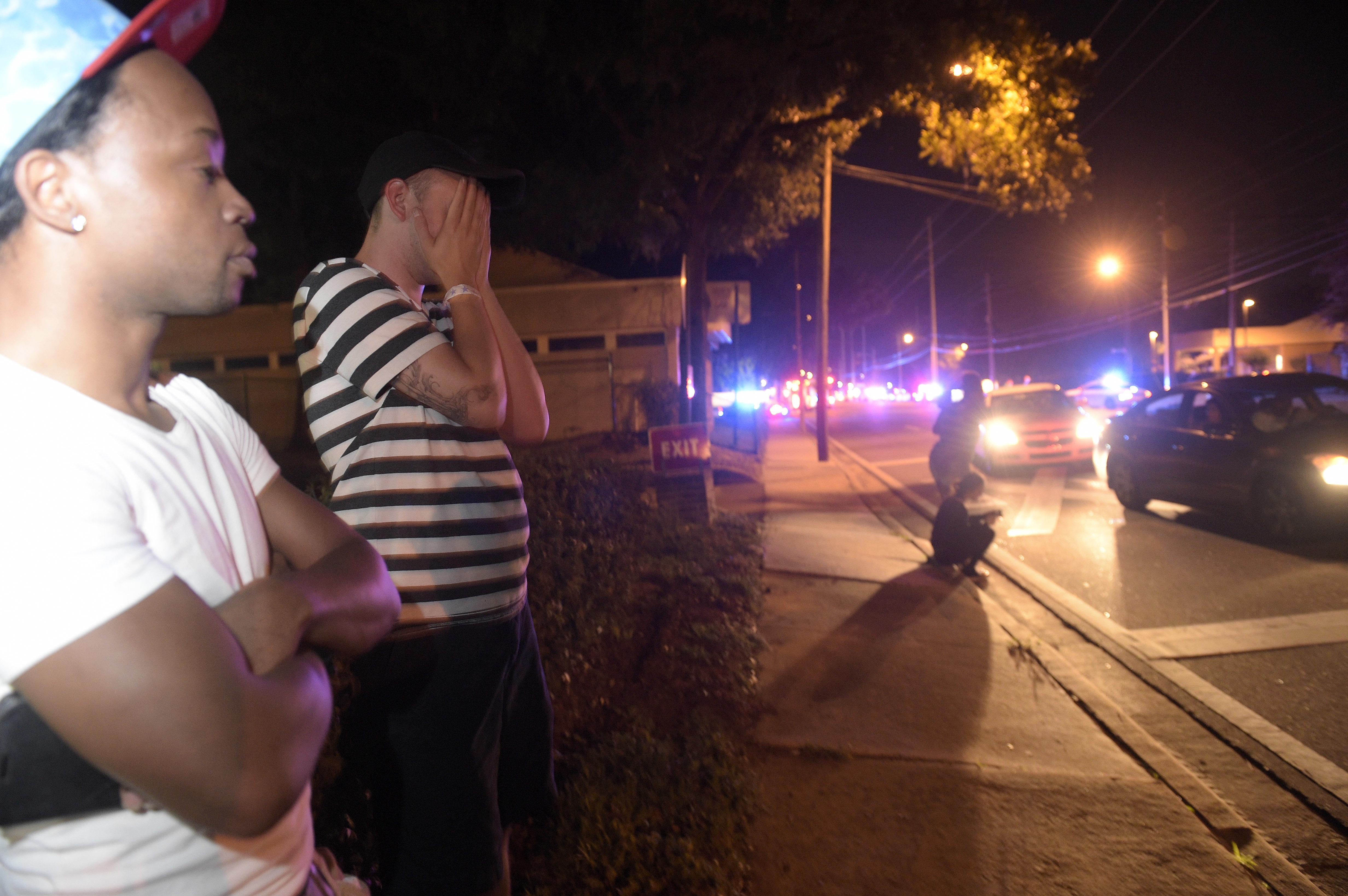 La rue d'Orlando où se trouve le night club Pulse, théâtre d'une fusillade le 12 juin 2016