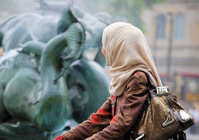Une femme musulmane. Image d'illustration