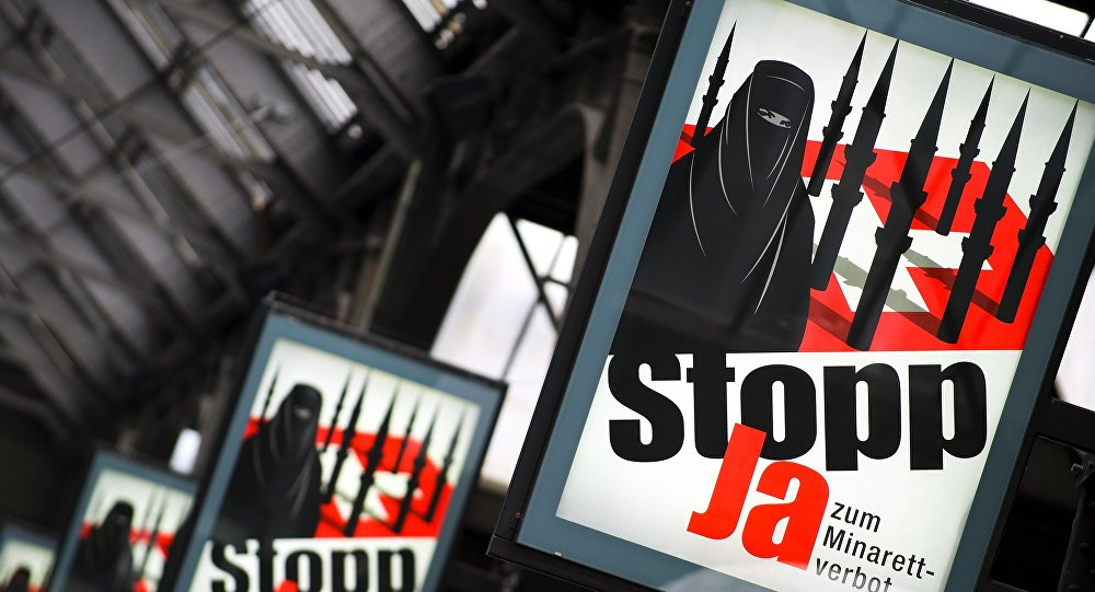 Сampagne anti-burqa en Suisse. Archive photo