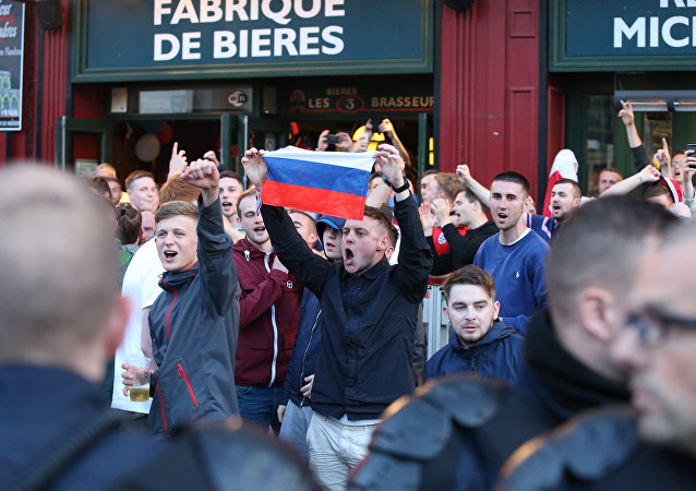 Supporters russes à l'Euro 2016 de football