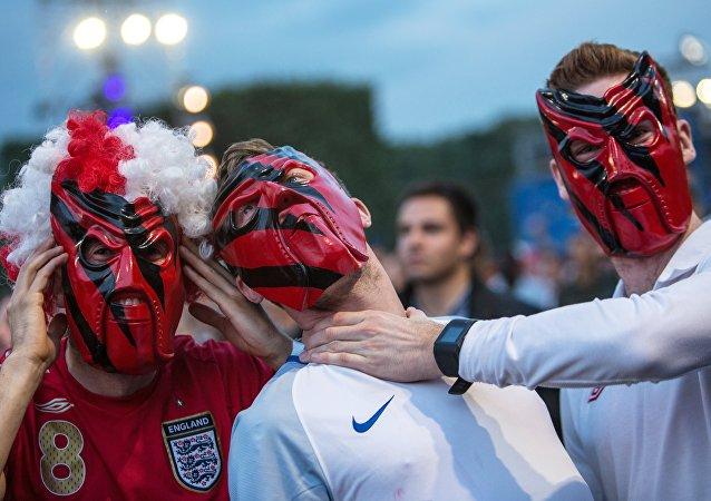 Des supporters britanniques