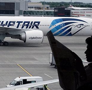 L'avion de l'EgypAir