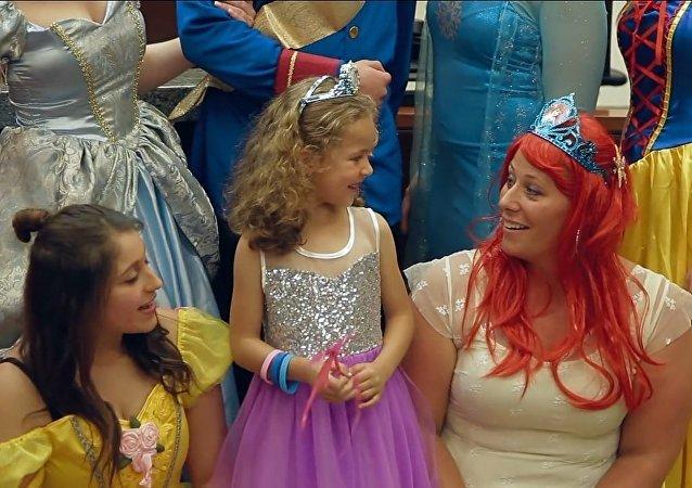 Une adoption émouvante en compagnie de princesses