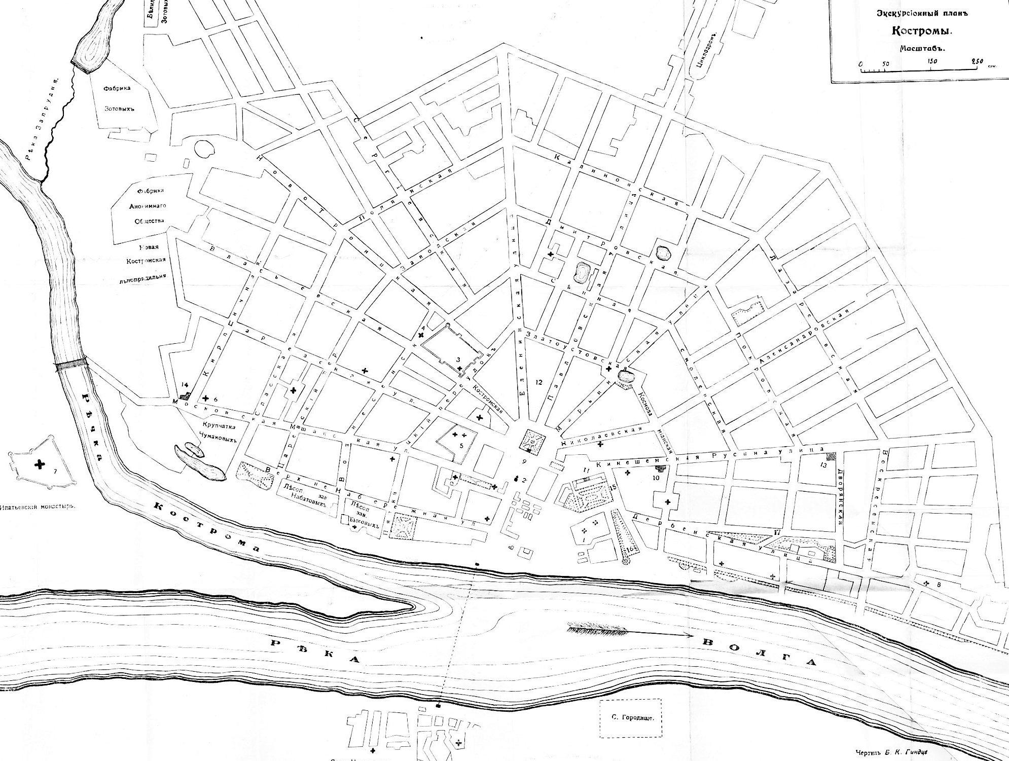 Plan ancien de Kostroma