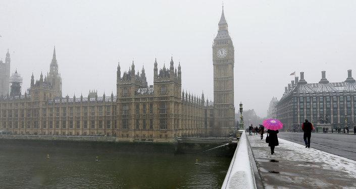 Le Palais de Westminster où siège le parlement britannique