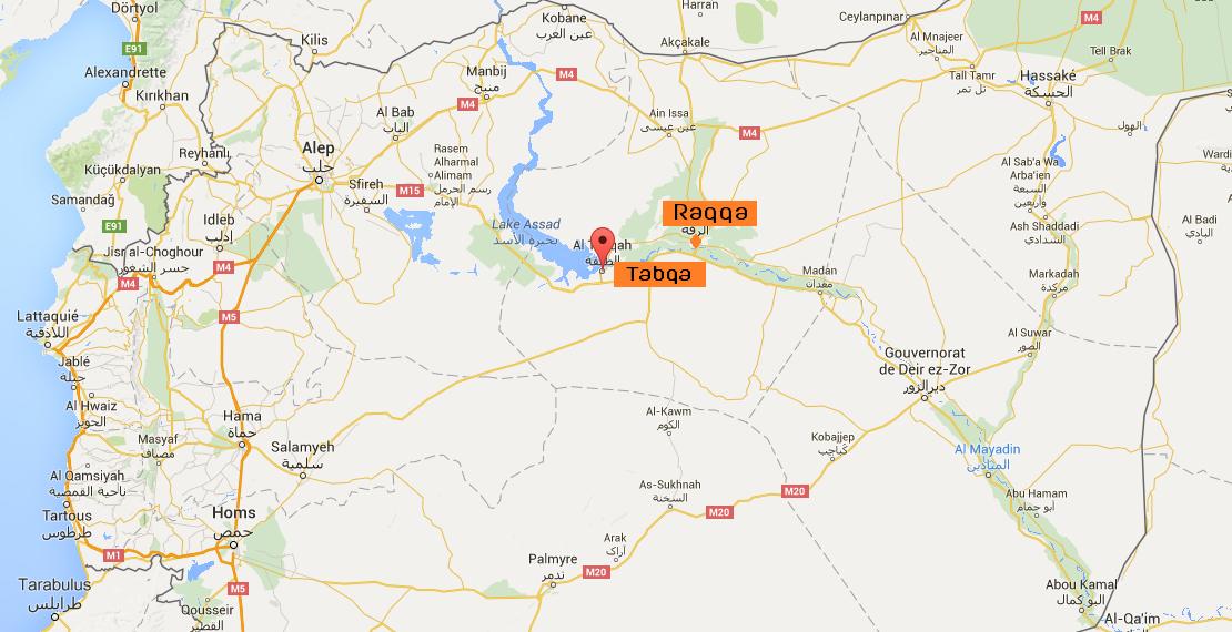 Les combattants se trouvent actuellement à 7 km de l'aéroport de Tabqa dans la province de Raqqa