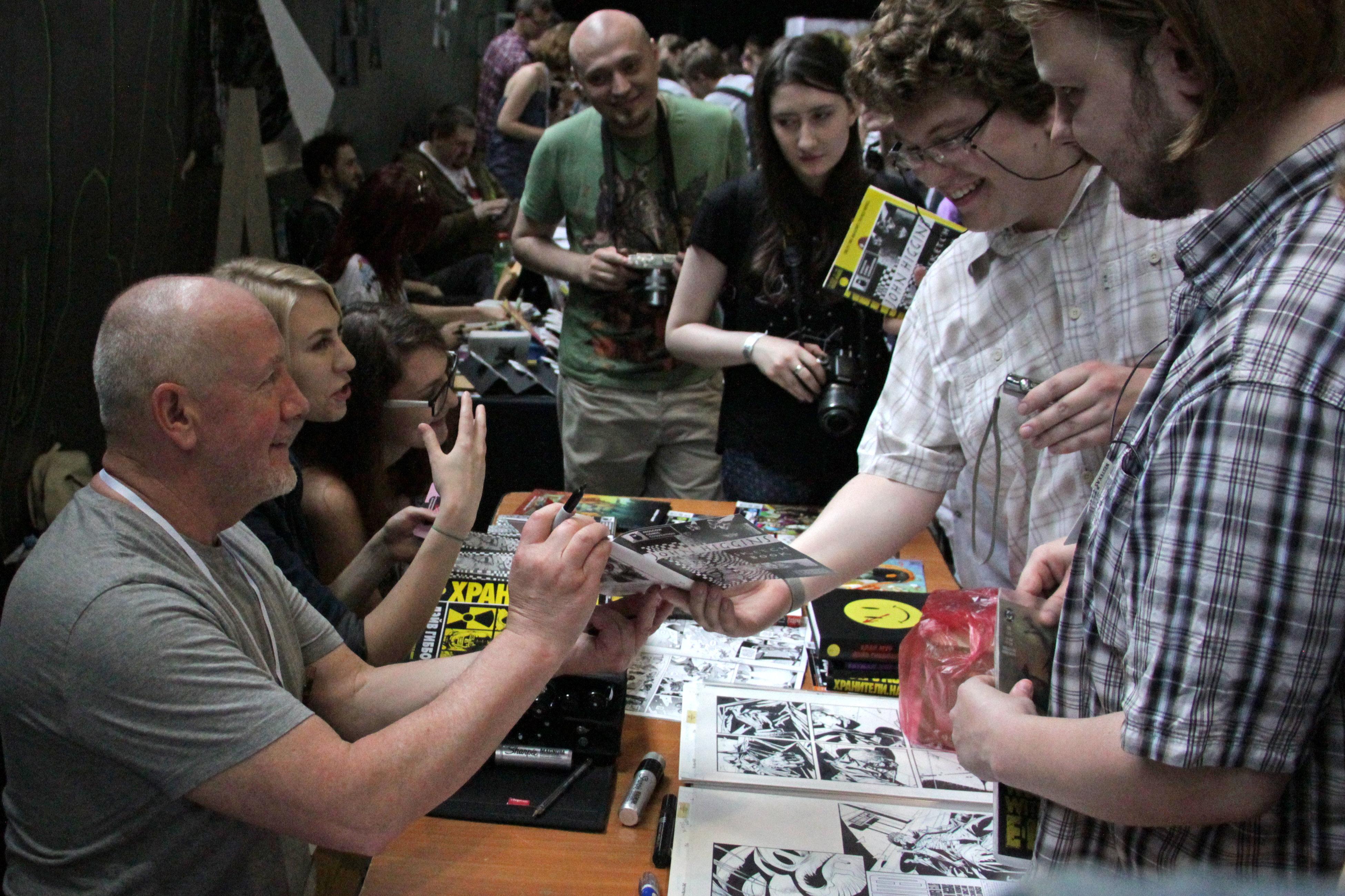 John Higgins avec ses fans