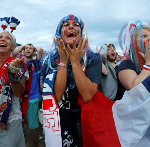 Des fans de l'équipe de France. Image d'illustration