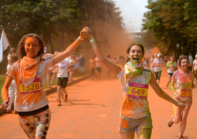 La course The Color Run – 2016 à Moscou