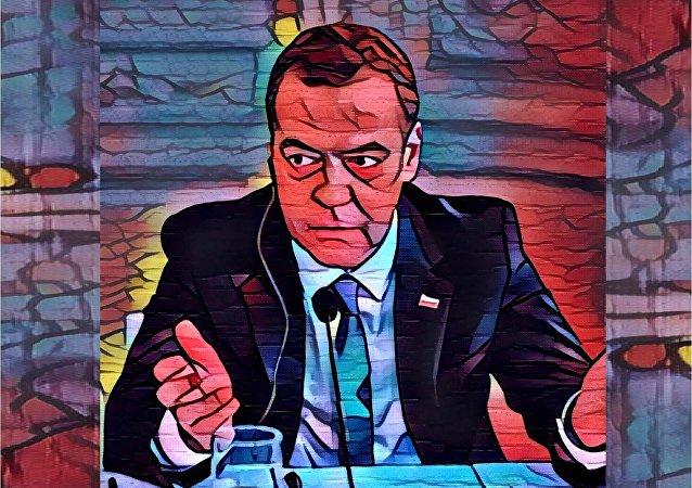 premier ministre russe Dimitri Medvedev