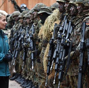 La ministre allemande de la Défense, Ursula von der Leyen