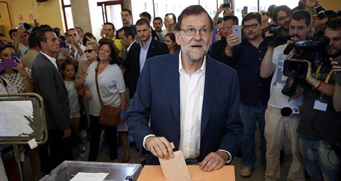 Mariano Rajoy  lors des législatives de dimanche 26 juin