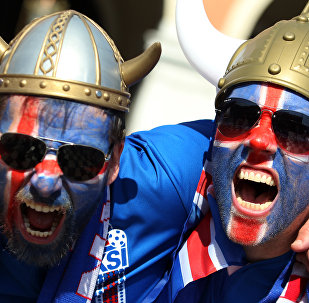 Des supporters islandais