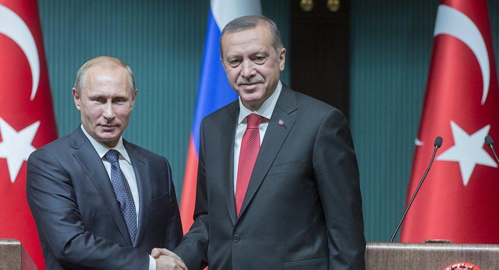 Le président turc Recep Tayyip Erdogan rencontre son homologue russe Vladimir Poutine. Archivev photo