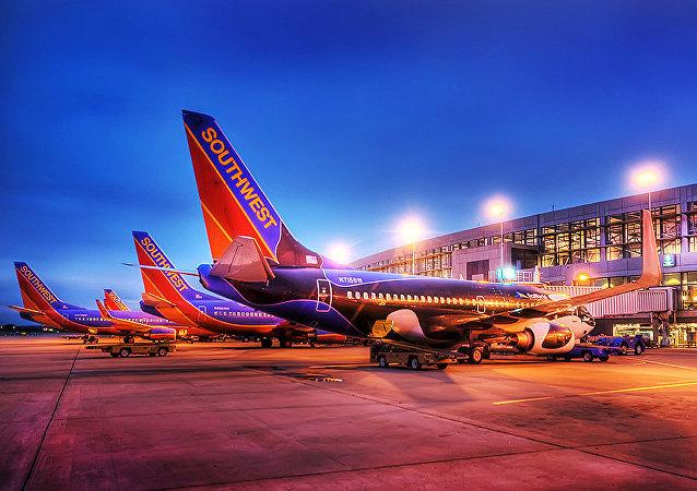 Boeings 737 de la ligne aérienne Southwest à Austin Texas
