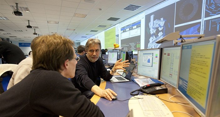 Anatoli Romaniouk, physicien russe au CERN, chef du groupe international chargé d'ATLAS MEPHI (Advanced Transition Radiation Detectors for Accelerator and Space Applications)