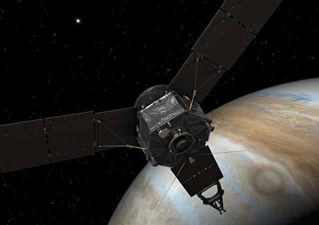 La sonde Juno près de Jupiter