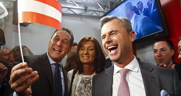 Le candidat aux présidentielles autrichiennes Norbert Hofer du Parti de la liberté d'Autriche