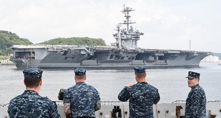 Porte-avions nuclaéaire américain USS George Washington