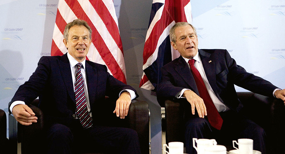 George W. Bush et Tony Blair