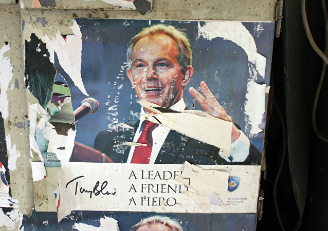 Tony Blair ripped poster