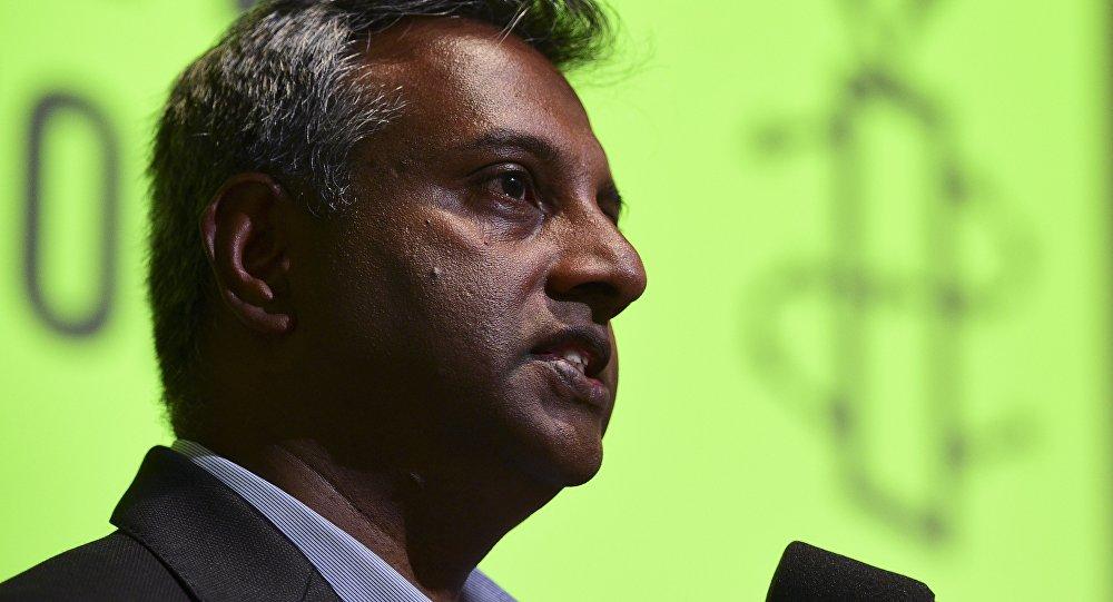 Le secrétaire général d'Amnesty International Salil Shetty