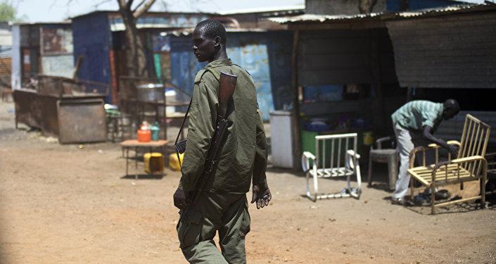 Un sud-soudanais armé