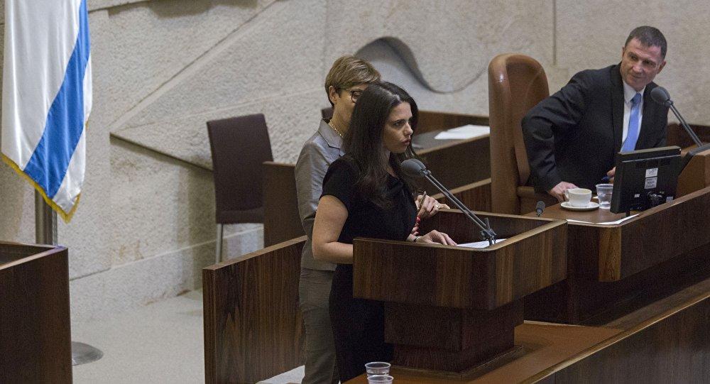 La ministre israélienne de la Justice, Ayelet Shaked, à la Knesset