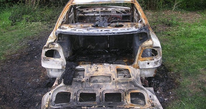 voiture brûlée