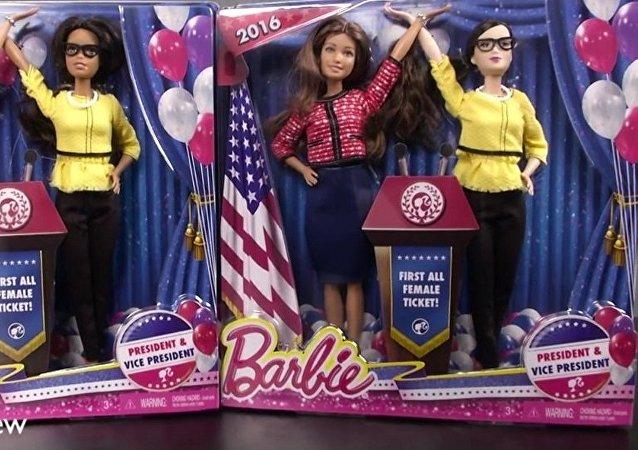 Nouvelles poupées Barbie: présidente et vice-présidente