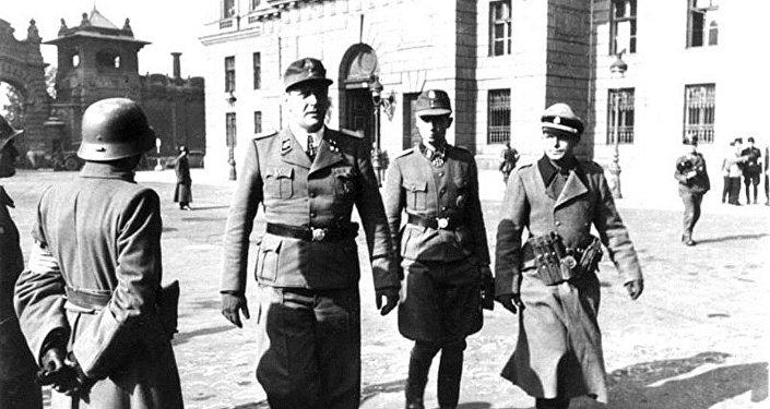 Otto Skorzeny et Adrian von Fölkersam