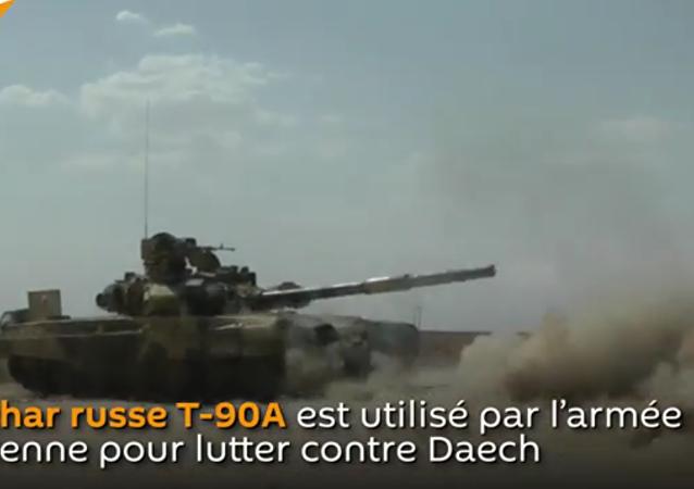 Le char russe T-90A lutte contre Daech en Syrie