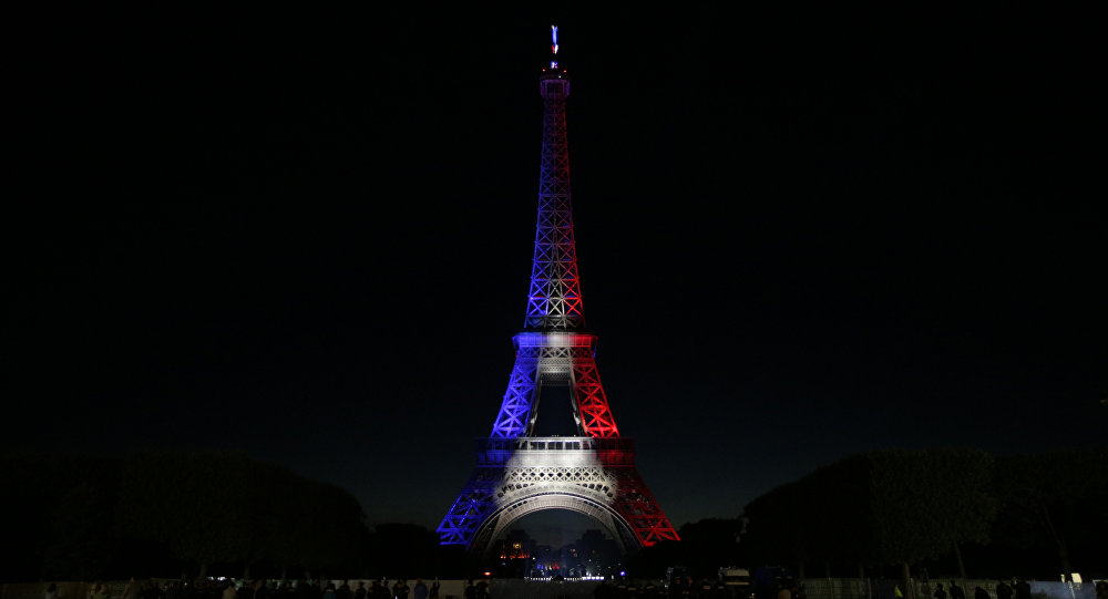 Super Photo Collection Eiffel Bleu Blanc Et Rouge OG38