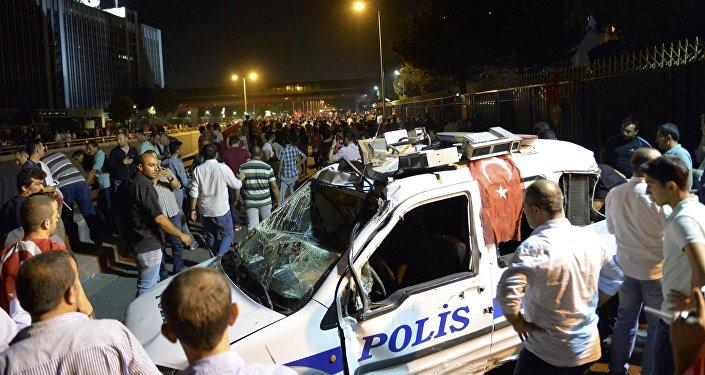 SituacAnkara le jour de la tentative de putsch (16 juillet 2016)ión en Ankara
