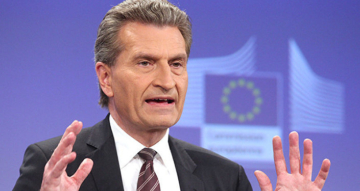 Oettinger s'oppose à des sanctions contre le secteur gazier russe