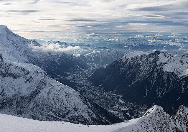 Chamonix, Mont Blanc and Aiguille du Midi