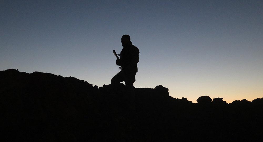 Djihadiste en Irak. Image d'illustration