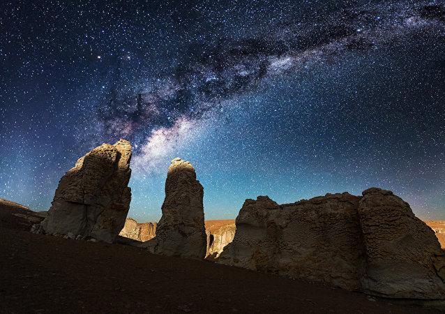 La magie du ciel durant la nuit