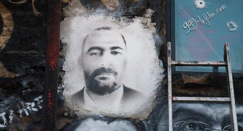 Portrait de Baghdadi, numéro un de l'organisation terroriste Daech*