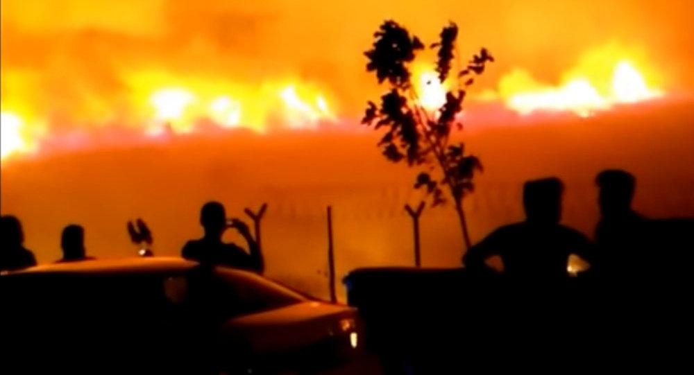 Un gigantesque incendie près d'une base de l'Otan en Turquie