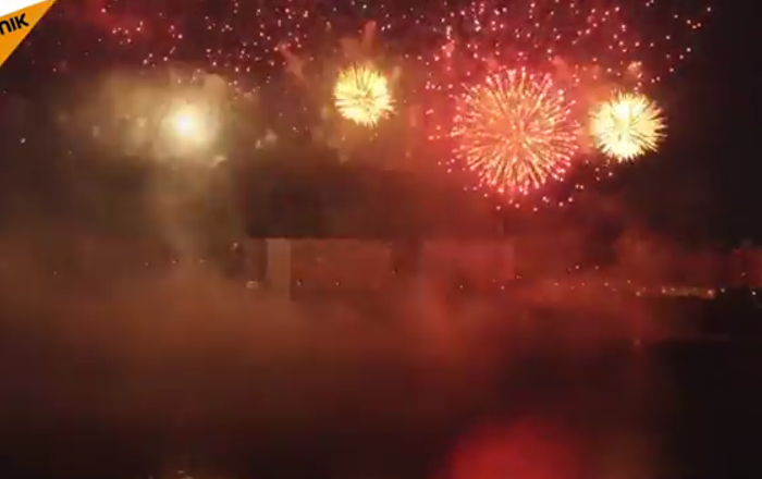 Le festival international des feux d'artifice à Moscou
