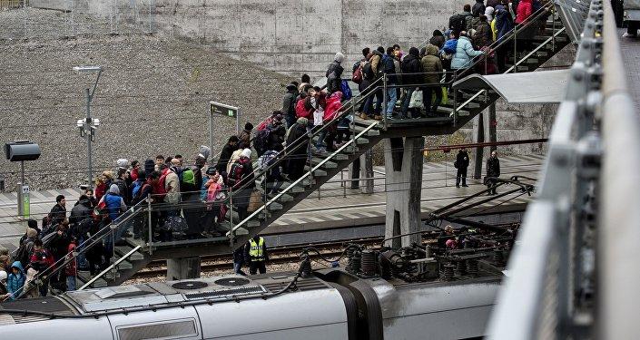 Des réfugiés au Danemark. Image d'illustration