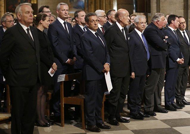 La cérémonie d'hommage au Père Hamel dans la cathédrale Notre-Dame de Paris, le 27 juillet