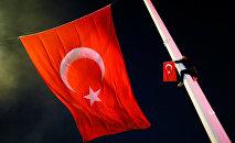 Un partisant du président turc Erdogan sur la place Taksim à Istanbul
