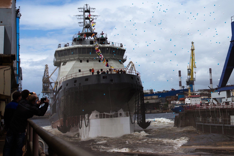 Le brise-glace diesel-électrique Ilya Mouromets