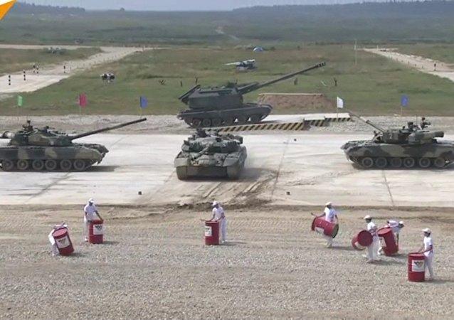 La Russie accueille le biathlon en char d'assaut